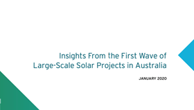 Insights from the first wave of large-scale solar projects in Australia